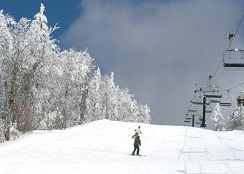 """No. 1: Okemo, Vermont""""Their obvious strength is their lift system. The heated seats kept us from freezing and the bubble blocking the wind was a godsend.""""Photo courtesy of Okemo Mountain Resort."""