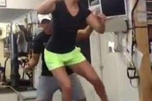 Lindsey Vonn Training, Aug. 28, 2013 (1 of 3)