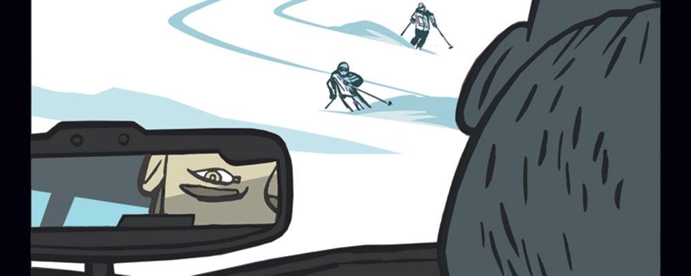 Glacier shot of three girls in the Arc'Teryx Incendia Onesie