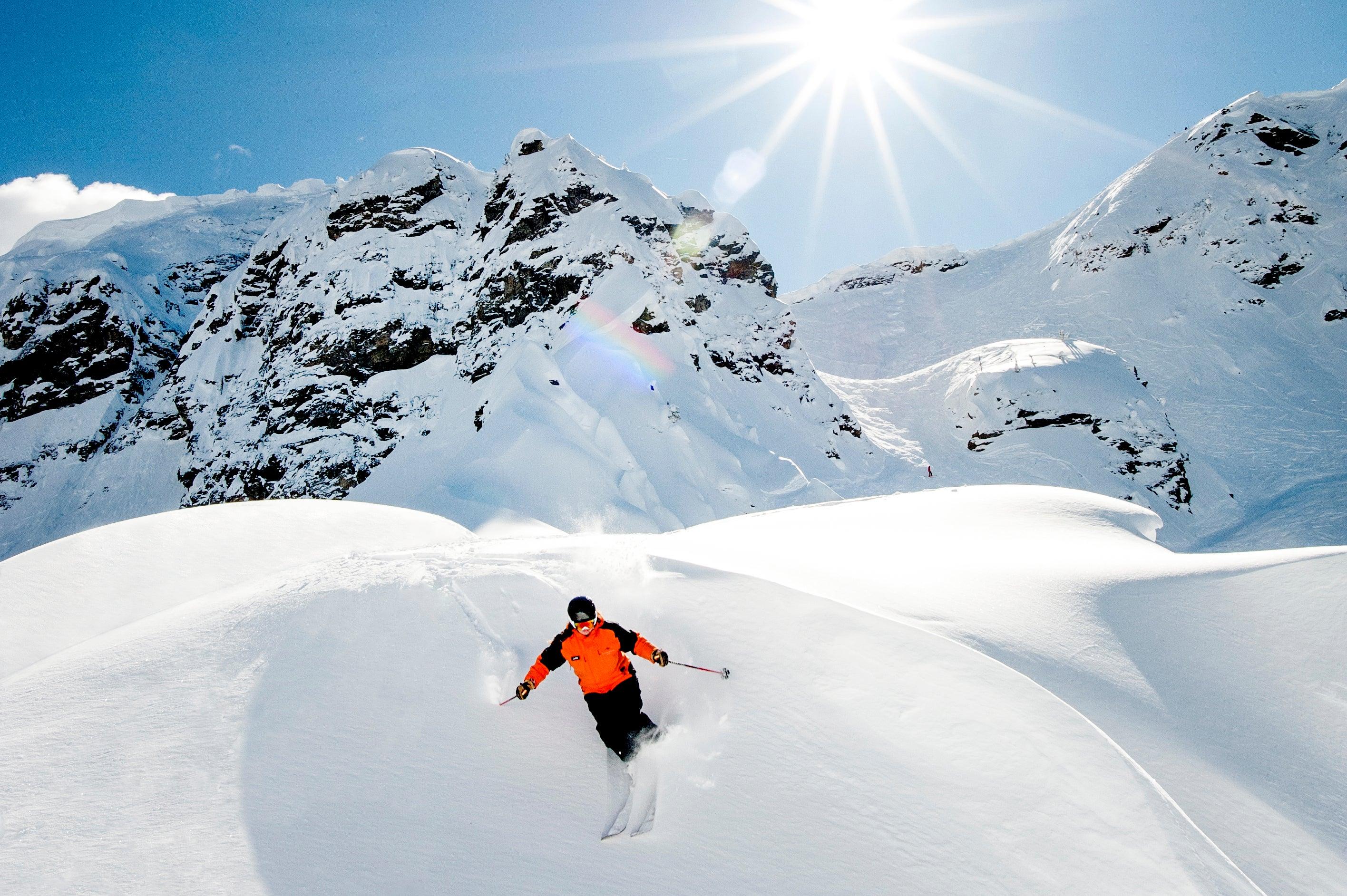 skier in Revelstoke