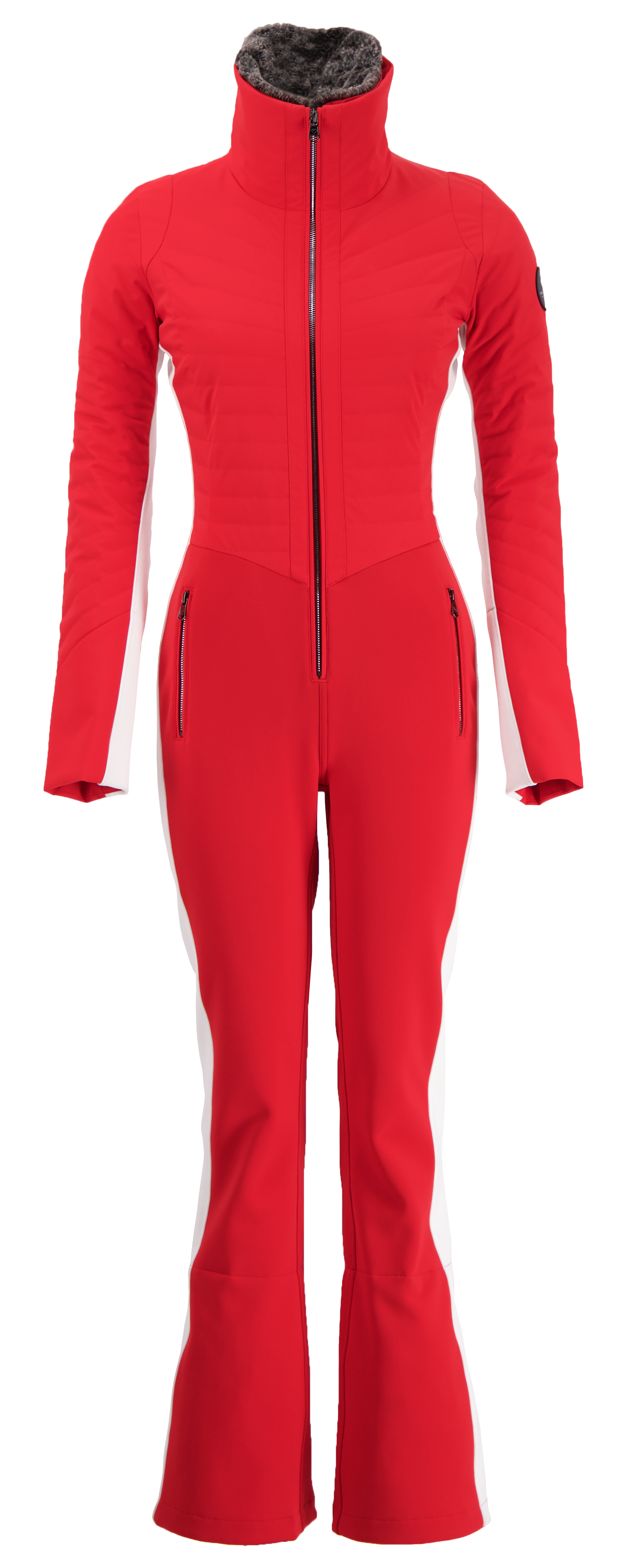 Skier in C0lumbia Heated Vest