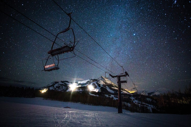 Crested Butte at night