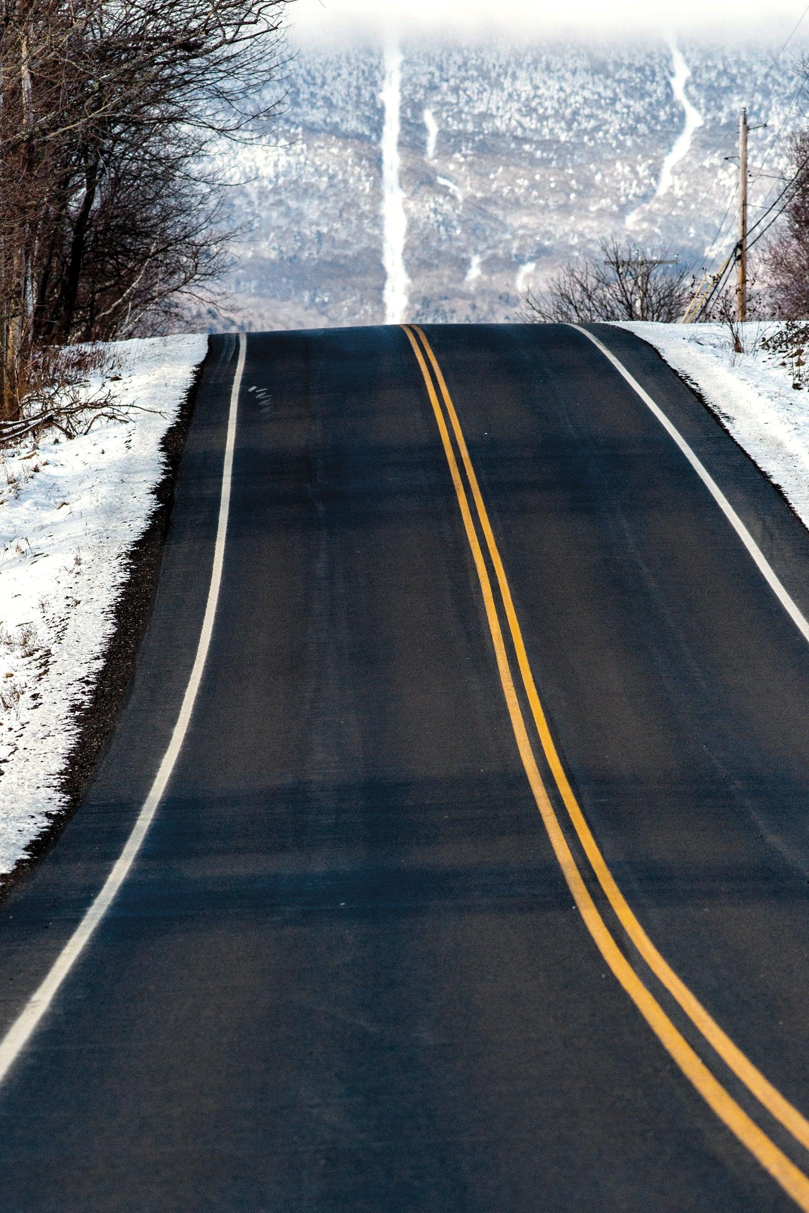 Winter Vermont road to Sugarbush
