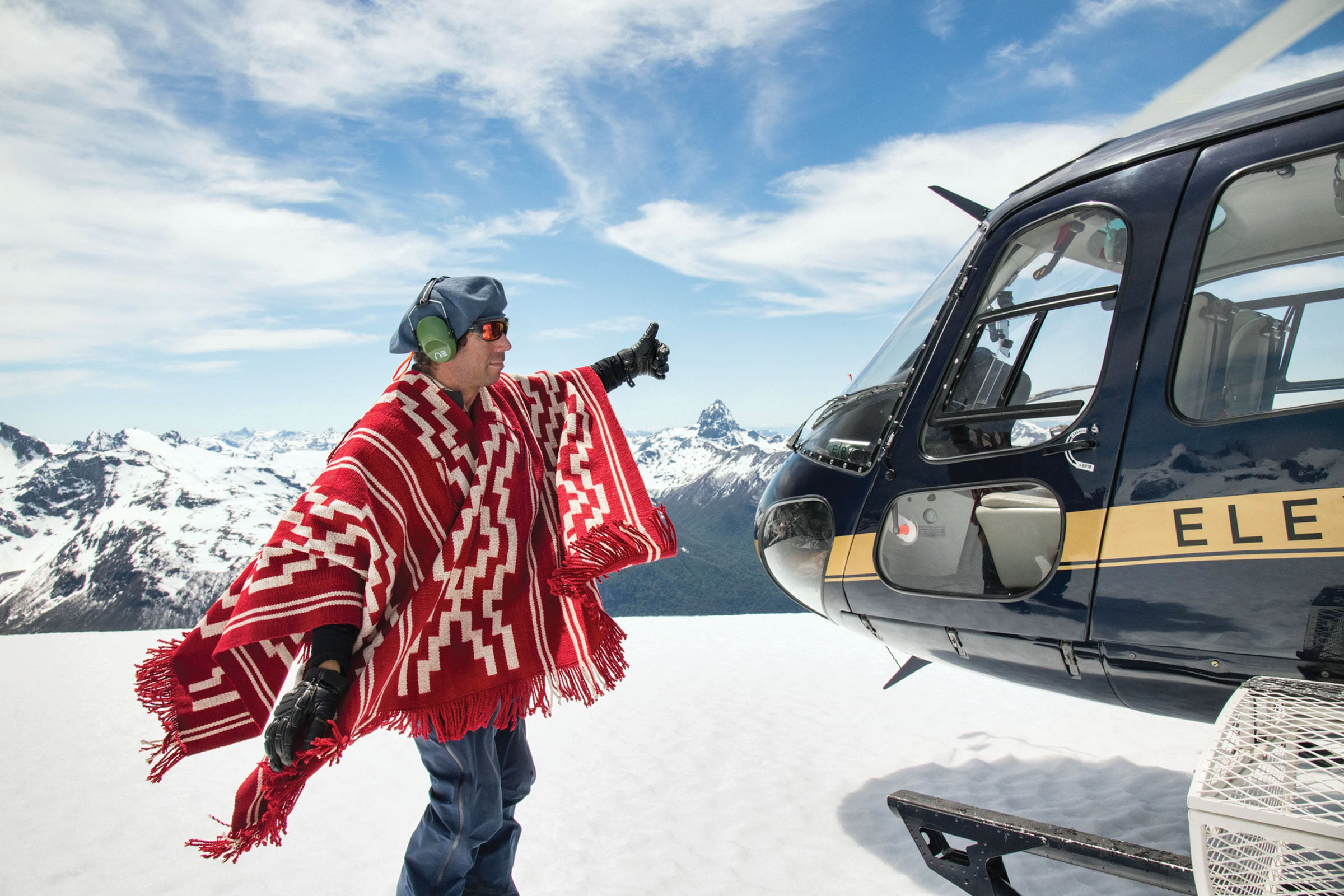 Eleven Experience guide signals to helicopter