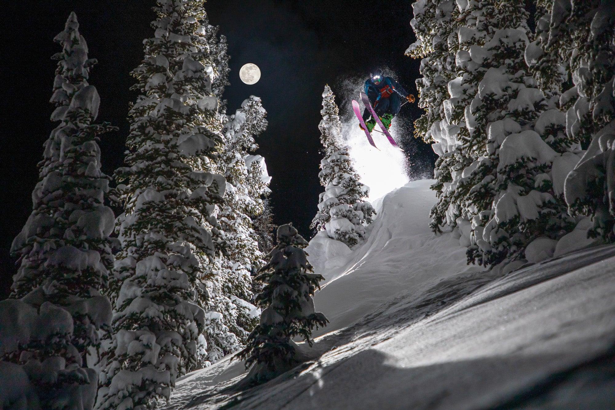 Full Moon Backcountry Skiing