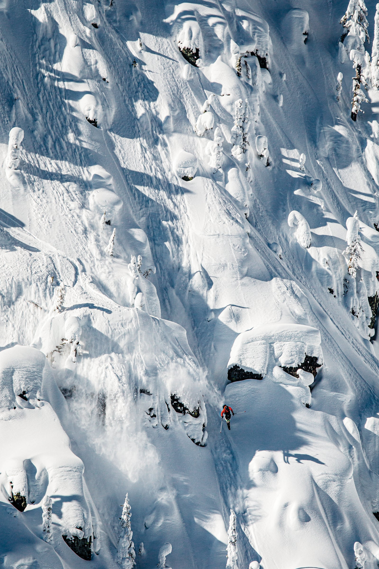 Parkin Costain Skiing Pillows in Northwestern Montana