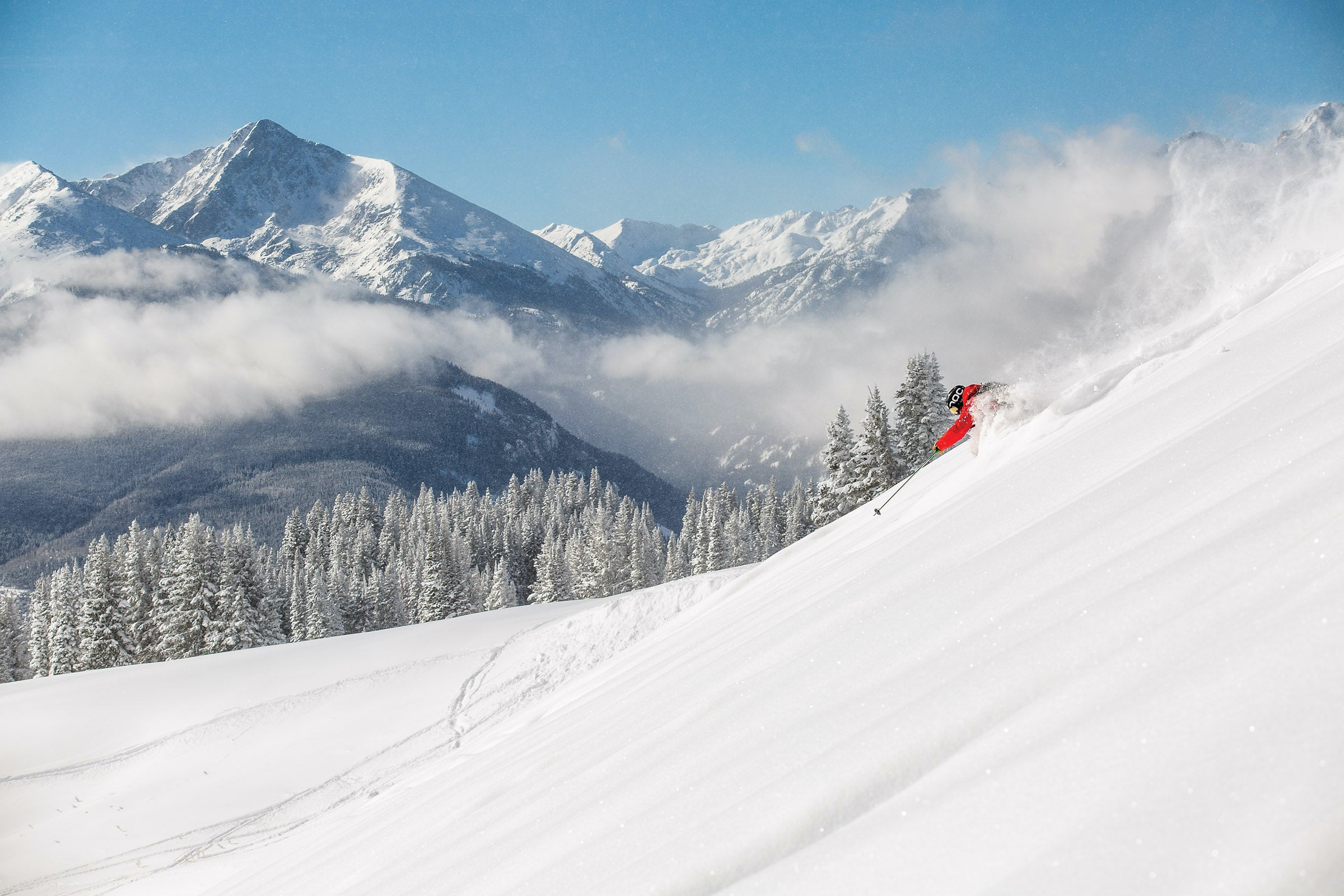Skier in Vail Back Bowls