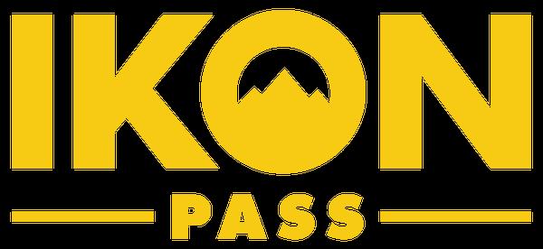 IKON pass logo in yellow