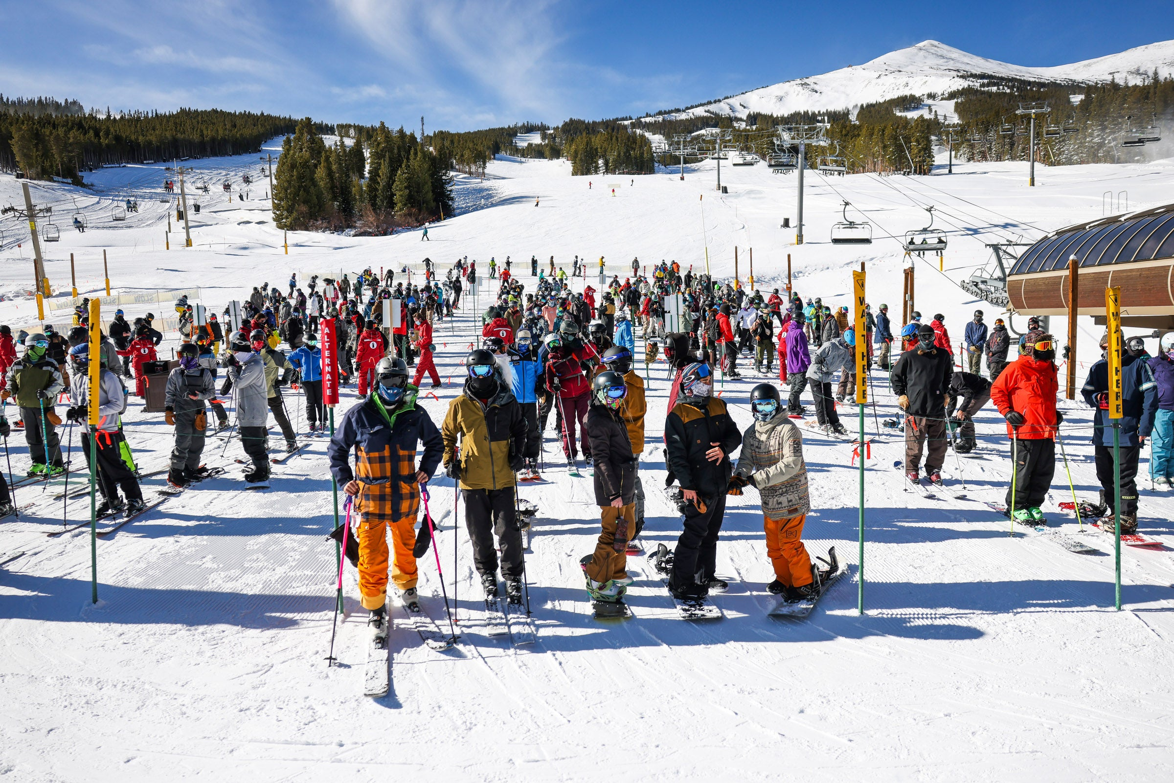 Breckenridge Ski Resort COVID social distancing