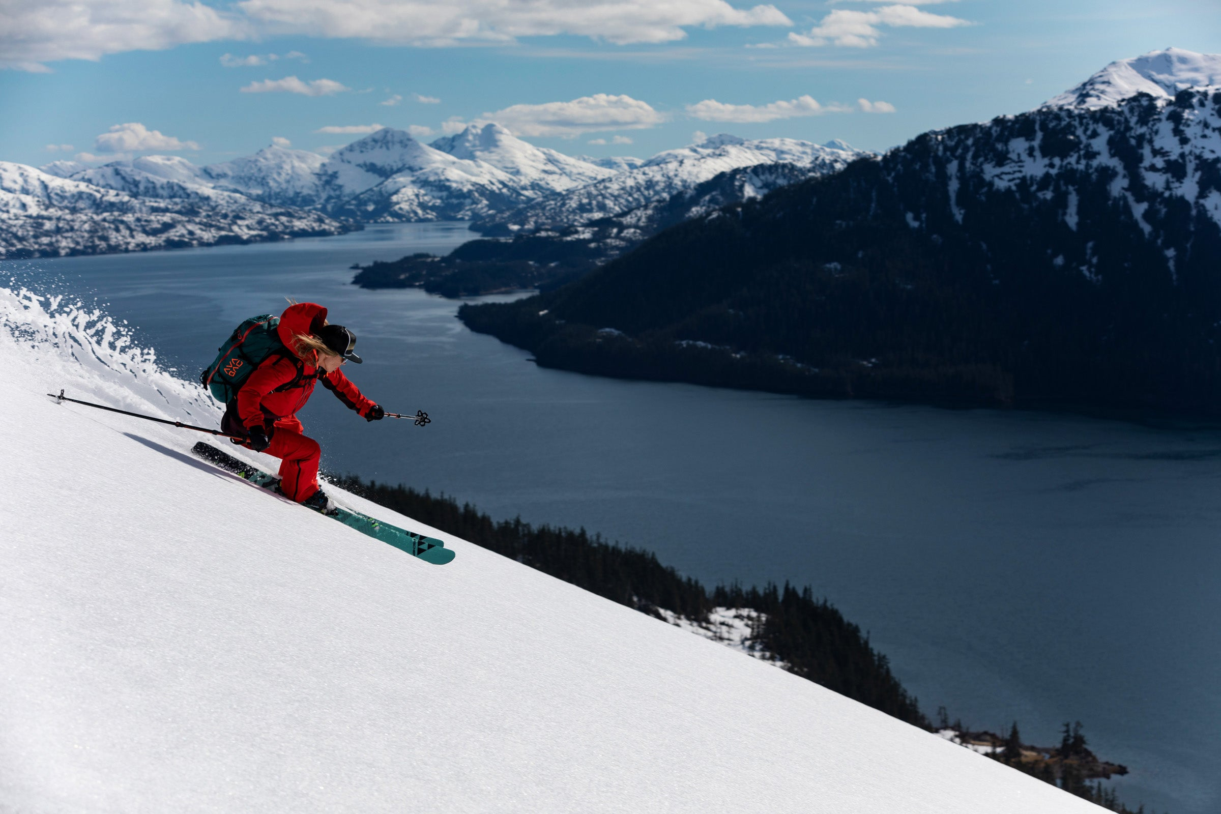Lynsey Dyer skiing in Prince William Sound