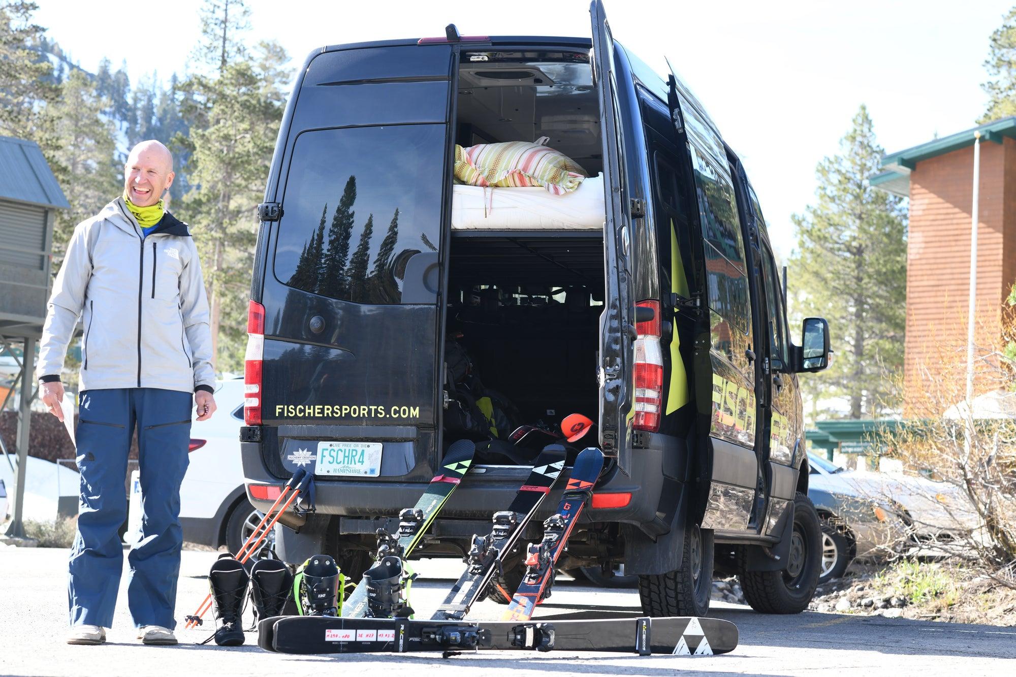 Mike Hattrup and his sprinter van