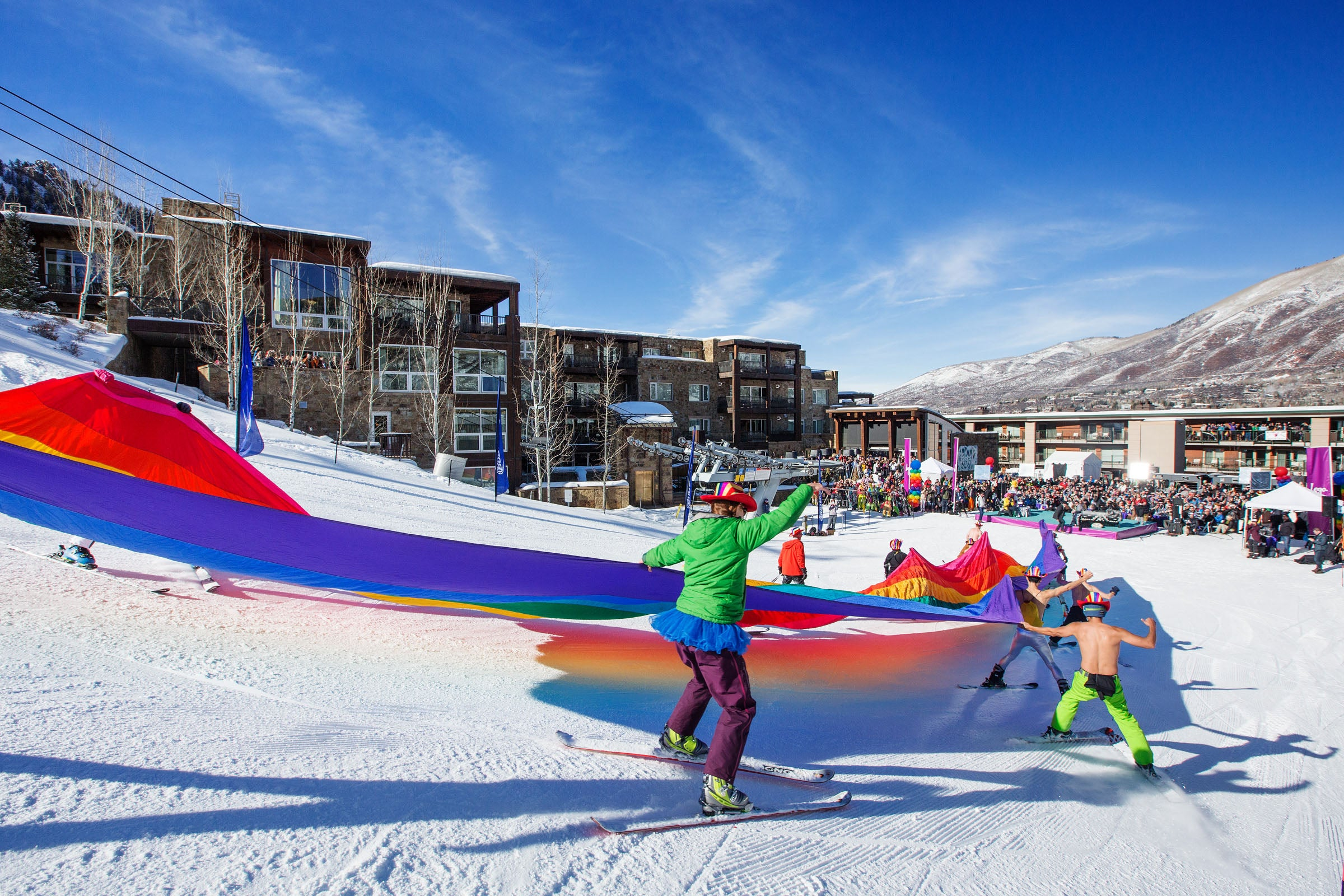 How to Be a Queer-Friendly Ski Town All Year Round